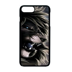 Angry Lion Digital Art Hd Apple Iphone 7 Plus Seamless Case (black)