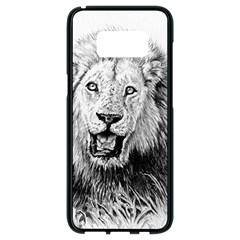Lion Wildlife Art And Illustration Pencil Samsung Galaxy S8 Black Seamless Case
