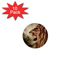 Roaring Lion 1  Mini Buttons (10 Pack)  by Celenk