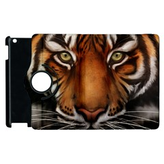 The Tiger Face Apple Ipad 3/4 Flip 360 Case