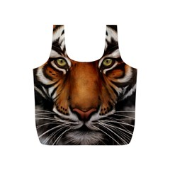 The Tiger Face Full Print Recycle Bags (s)  by Celenk