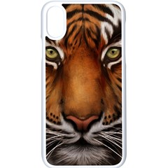 The Tiger Face Apple Iphone X Seamless Case (white)