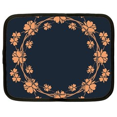 Floral Vintage Royal Frame Pattern Netbook Case (large)