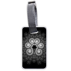 Fractal Filigree Lace Vintage Luggage Tags (two Sides)