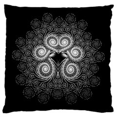 Fractal Filigree Lace Vintage Standard Flano Cushion Case (one Side) by Celenk