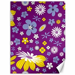 Floral Flowers Canvas 36  X 48   by Celenk