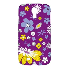 Floral Flowers Samsung Galaxy S4 I9500/i9505 Hardshell Case by Celenk