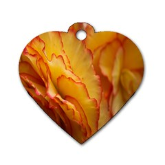 Flowers Leaves Leaf Floral Summer Dog Tag Heart (one Side)