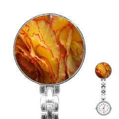 Flowers Leaves Leaf Floral Summer Stainless Steel Nurses Watch by Celenk
