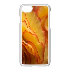 Flowers Leaves Leaf Floral Summer Apple Iphone 7 Seamless Case (white) by Celenk
