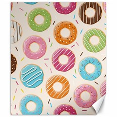 Colored Doughnuts Pattern Canvas 20  X 24   by allthingseveryday