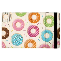 Colored Doughnuts Pattern Apple Ipad 2 Flip Case by allthingseveryday