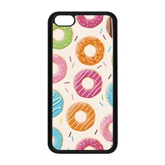 Colored Doughnuts Pattern Apple Iphone 5c Seamless Case (black) by allthingseveryday