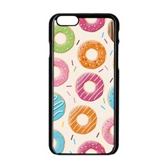 Colored Doughnuts Pattern Apple Iphone 6/6s Black Enamel Case by allthingseveryday