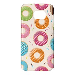 Colored Doughnuts Pattern Samsung Galaxy S7 Edge Hardshell Case