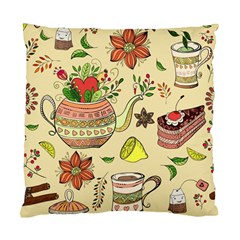 Colored Afternoon Tea Pattern Standard Cushion Case (two Sides) by allthingseveryday