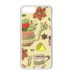 Colored Afternoon Tea Pattern Apple Iphone 7 Plus Seamless Case (white) by allthingseveryday