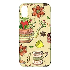 Colored Afternoon Tea Pattern Apple Iphone X Hardshell Case by allthingseveryday