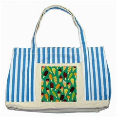 Summer Treats Striped Blue Tote Bag by allthingseveryday