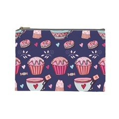 Afternoon Tea And Sweets Cosmetic Bag (large)  by allthingseveryday