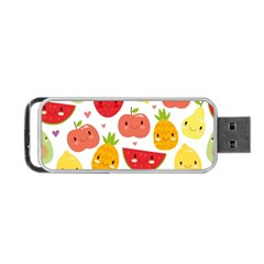 Happy Fruits Pattern Portable Usb Flash (two Sides)