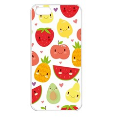 Happy Fruits Pattern Apple Iphone 5 Seamless Case (white) by allthingseveryday