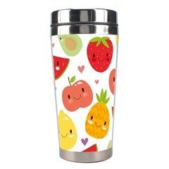 Happy Fruits Pattern Stainless Steel Travel Tumblers by allthingseveryday