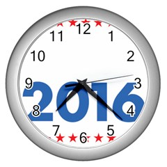 Wtf? 2016 Wall Clocks (silver)