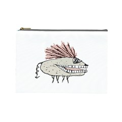 Monster Rat Hand Draw Illustration Cosmetic Bag (large)  by dflcprints