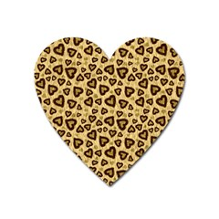 Leopard Heart 01 Heart Magnet by jumpercat