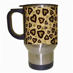 Leopard Heart 01 Travel Mugs (white) by jumpercat