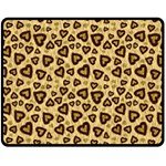 Leopard Heart 01 Fleece Blanket (Medium)  60 x50 Blanket Front