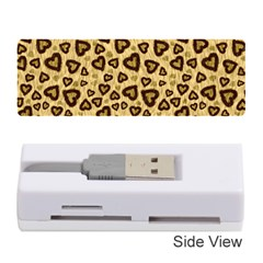 Leopard Heart 01 Memory Card Reader (stick)  by jumpercat