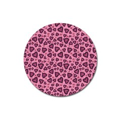 Leopard Heart 03 Magnet 3  (round) by jumpercat