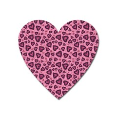 Leopard Heart 03 Heart Magnet by jumpercat