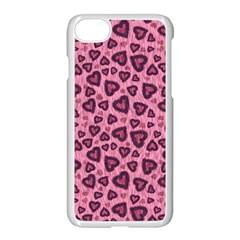 Leopard Heart 03 Apple Iphone 7 Seamless Case (white) by jumpercat