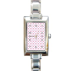 Pixel Hearts Rectangle Italian Charm Watch by jumpercat