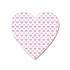 Pixel Hearts Heart Magnet by jumpercat