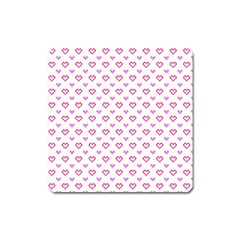 Pixel Hearts Square Magnet by jumpercat
