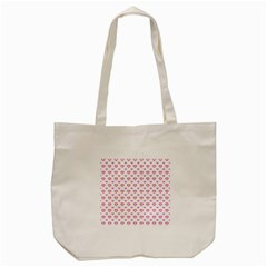 Pixel Hearts Tote Bag (cream) by jumpercat