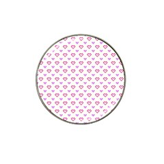 Pixel Hearts Hat Clip Ball Marker (4 Pack) by jumpercat