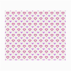 Pixel Hearts Small Glasses Cloth by jumpercat