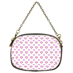 Pixel Hearts Chain Purses (two Sides)  by jumpercat