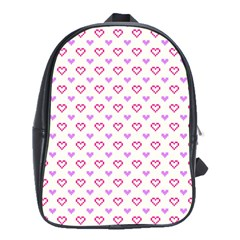 Pixel Hearts School Bag (large) by jumpercat