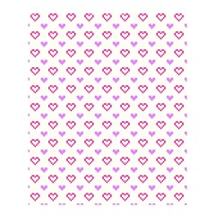 Pixel Hearts Shower Curtain 60  X 72  (medium)  by jumpercat