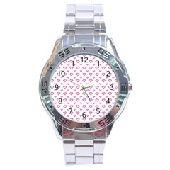 Pixel Hearts Stainless Steel Analogue Watch by jumpercat