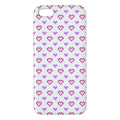 Pixel Hearts Apple Iphone 5 Premium Hardshell Case by jumpercat