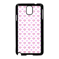 Pixel Hearts Samsung Galaxy Note 3 Neo Hardshell Case (black) by jumpercat