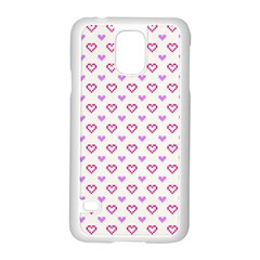 Pixel Hearts Samsung Galaxy S5 Case (white) by jumpercat