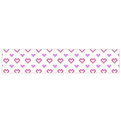 Pixel Hearts Small Flano Scarf by jumpercat